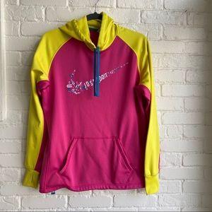 Nike Pink Just Do It Sweatshirt Hoodie Medium